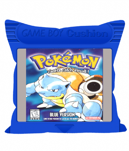 "Cartridge Series 12"" Sofa Cushion inspired Game Boy Pokemon Blue"